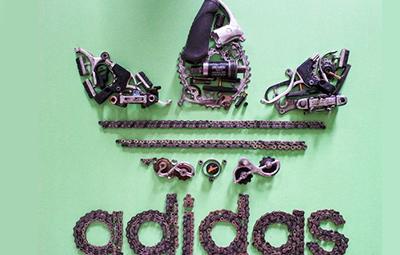 Những logo nổi tiếng và những hình ảnh được thiết kế từ những bộ phận của xe đạp