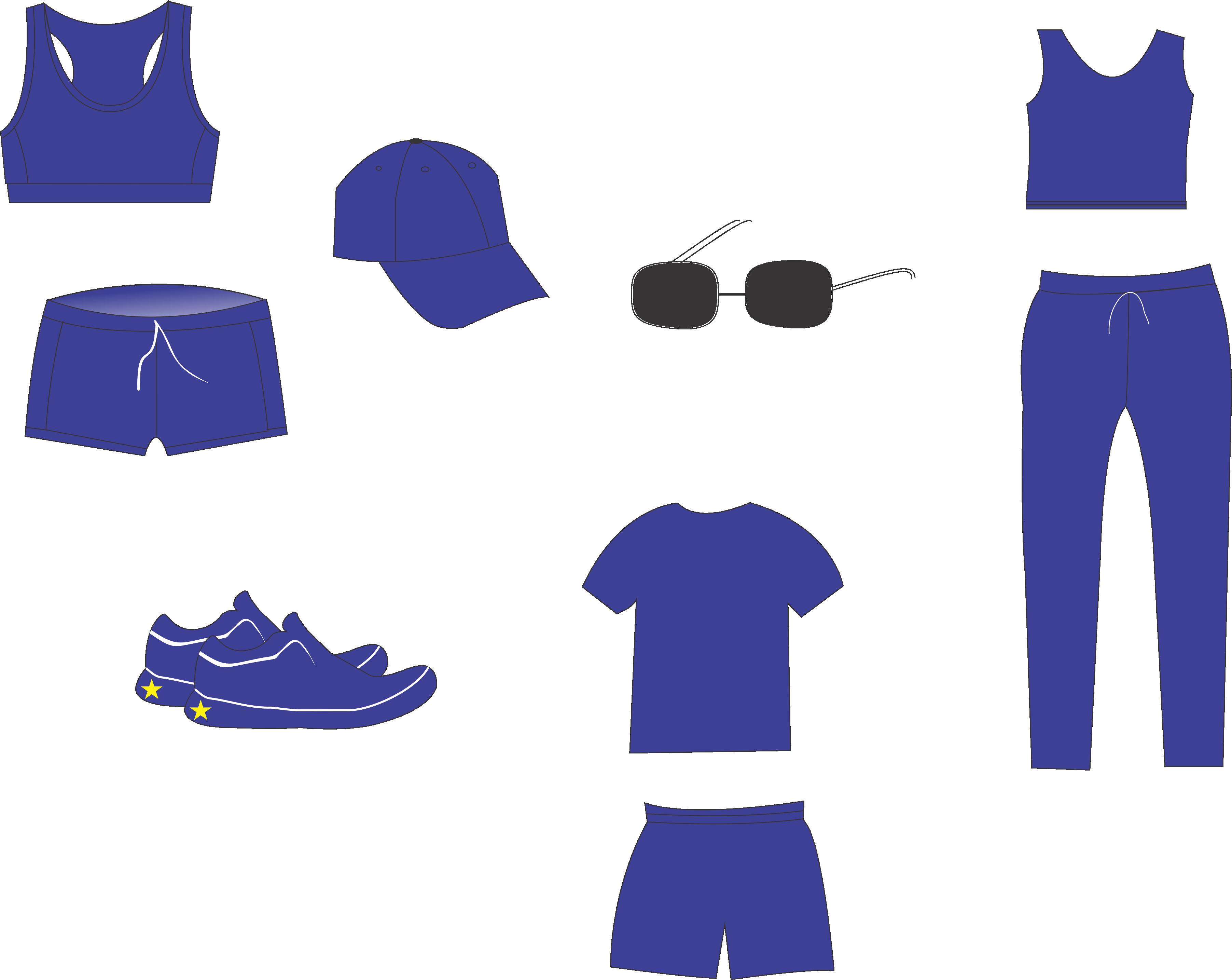 Hướng dẫn cách vẽ đồ thể thao đơn giản bằng corel